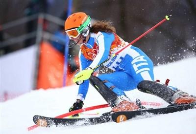 Chiara Costazza in azione (Infophoto)