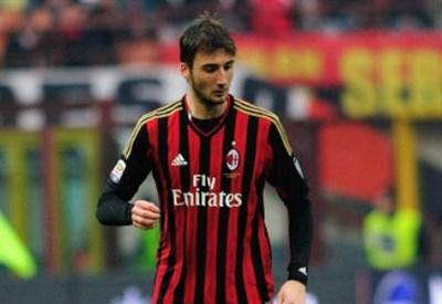 Bryan Cristante, 18 anni, centrocampista del Milan (INFOPHOTO)