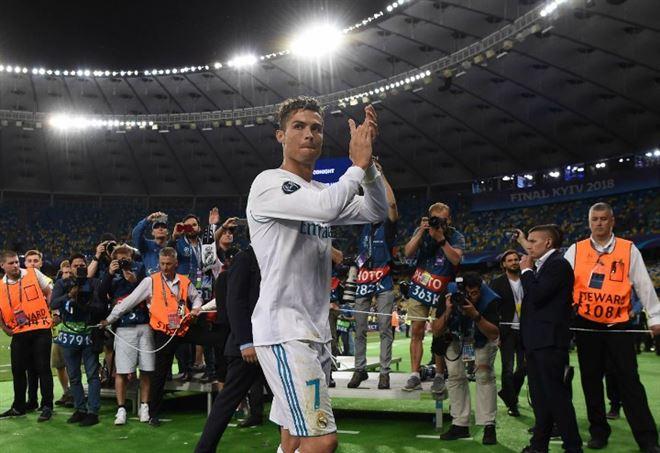 Cristiano Ronaldo esulta all'Allianz Stadium (Foto LaPresse)