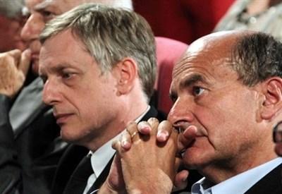 Gianni Cuperlo e Pier Luigi Bersani (Infophoto)