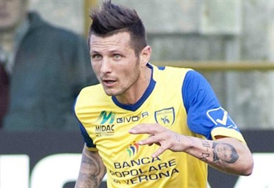 Thereau, attaccante Chievo (Foto Infophoto)