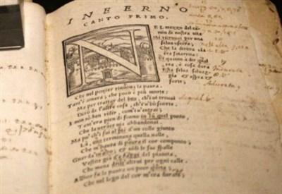 """Una """"Commedia"""" di Dante appartenuta a Galilei (LaPresse)"""