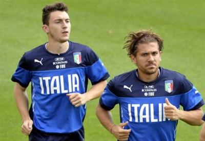 Matteo Darmian (sinistra), 24 anni e Alessio Cerci, 26 (INFOPHOTO)