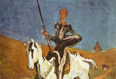 Uno dei tanti Don Quijote di H. Daumier (1868, particolare. Fonte: Wikipedia)