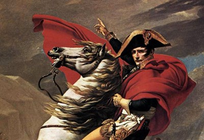 J.-L. David, Napoleone attraversa le Alpi (1801) (Immagine dal web)