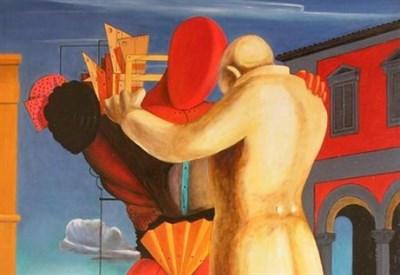 Giorgio de Chirico, Il figliol prodigo (1922, particolare)