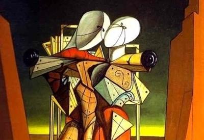 La pittura metafisica di Giorgio De Chirico (1888-1978) (Immagine d'archivio)