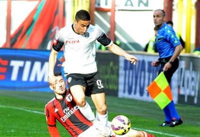 Grigoire Defrel, 23 anni, attaccante francese del Cesena (INFOPHOTO)