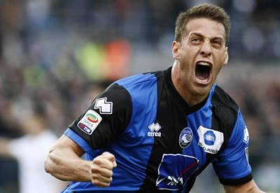 German Denis, attaccante dell'Atalanta (Infophoto)