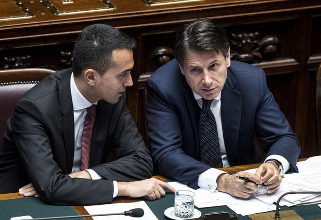Luigi Di Maio e Giuseppe Conte (Lapresse)