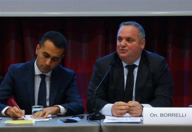 Luigi Di Maio e David Borrelli, M5s