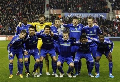 Una formazione di repertorio della Dinamo Kiev (Infophoto)