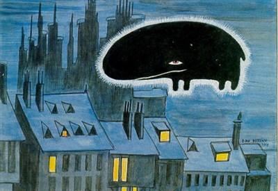 Da un disegno di Dino Buzzati (Immagine dal web)