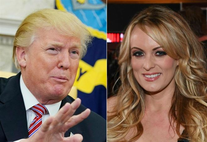 Stormy Daniels e Donald Trump (LaPresse)