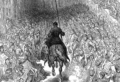 Orlando Furioso visto da Gustave Doré (Wikipedia)