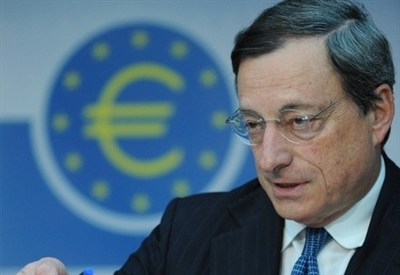 Il presidente Bce, Mario Draghi (Infophoto)