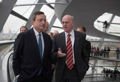 Mario Draghi al Bundestag (InfoPhoto)