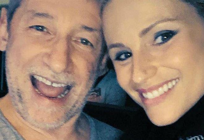 Duccio Forzano e Michelle Hunziker a Sanremo 2018