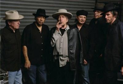 Bob Dylan e la sua banda, foto Sony Columbia Records