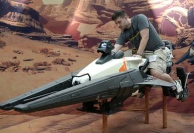 La moto jet 74-Z all'E3 (foto Infophoto)