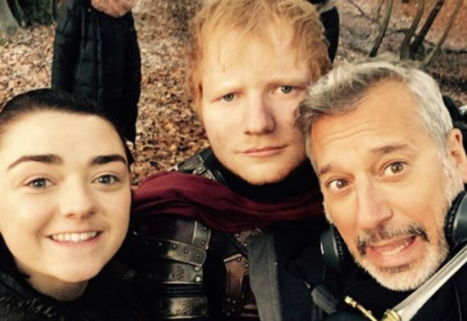 Ed Sheeran in Game of Thrones (Instagram)
