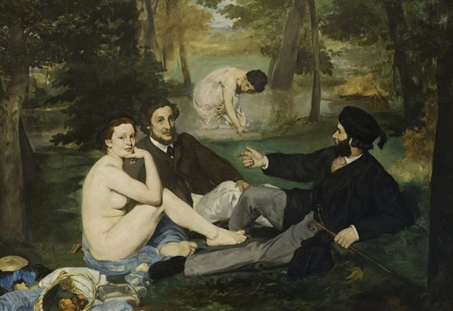 Edouard Manet, Colazione sull'erba (1862-63), particolare