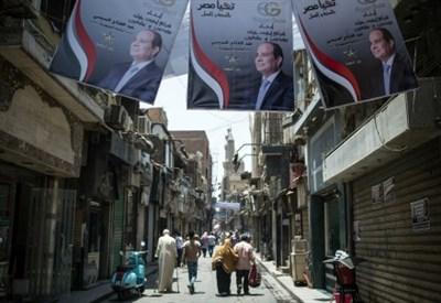 Manifesti elettorali in Egitto