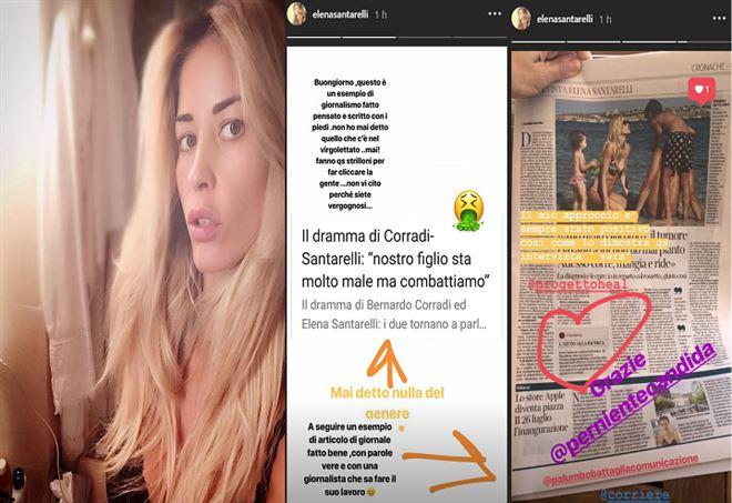 Elena Santarelli - Sfogo su Instagram