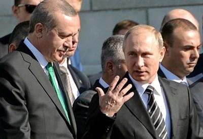 Recep Tayyip Erdogan con Vladimir Putin lo scorso settembre (Infophoto)