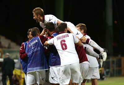 Il Livorno torna in serie A (Infophoto)