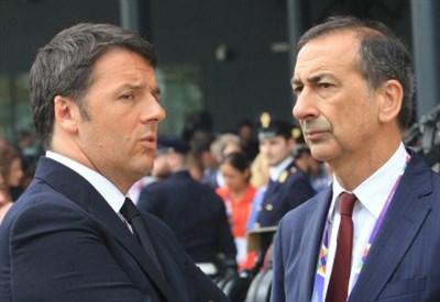 Matteo Renzi e Beppe Sala (Infophoto)
