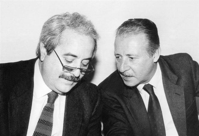 Paolo Borsellino con Giovanni Falcone (LaPresse)
