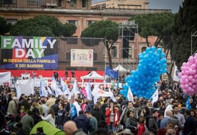 Al  Circo Massimo il 30 gennaio scorso (Infophoto)