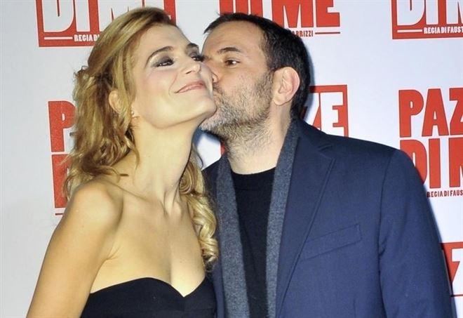 Fausto Brizzi con la moglie Claudia Zanella (LaPresse)