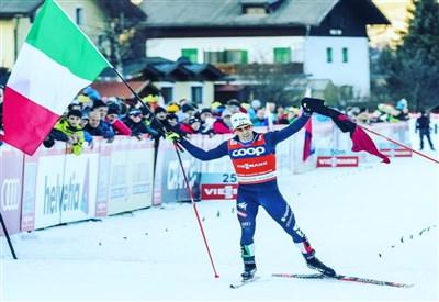 Federico Pellegrino festeggia la vittoria a Dobbiaco (da Facebook)
