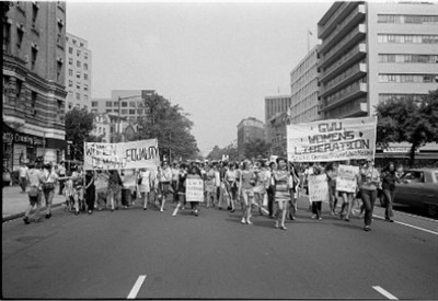 Women's rights march in 1970