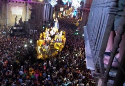 Festino di Santa Rosalia, Palermo (foto da Twitter)