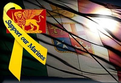 Una delle immagini prodotte dalla Marina Militare per la mobilitazione a sostegno dei suoi fucilieri