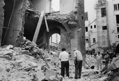 Via dei Gergofili a Firenze dopo l'attentato del 26-27 maggio 1993 (Foto dal web)