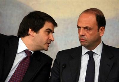 Raffaele Fitto e Angelino Alfano (Infophoto)