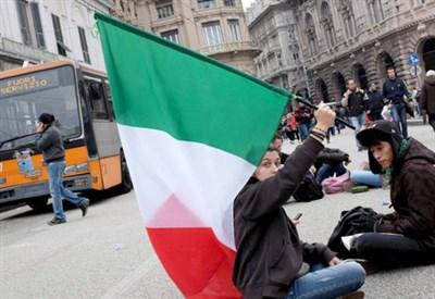 Protesta dei Forconi a Genova (Infophoto)