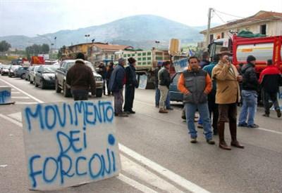 Una protesta del 2012
