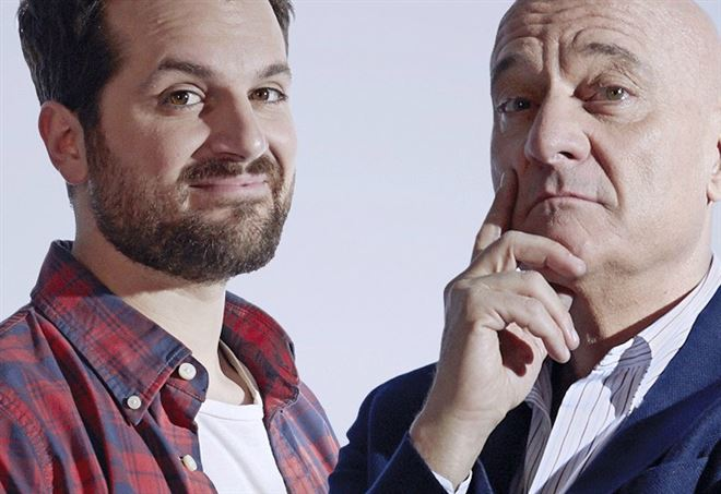 Claudio Bisio e Frank Matano in The Comedians (Sky)