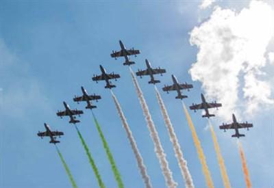 Le Frecce Tricolori alla Festa della Repubblica (Foto: InfoPhoto)
