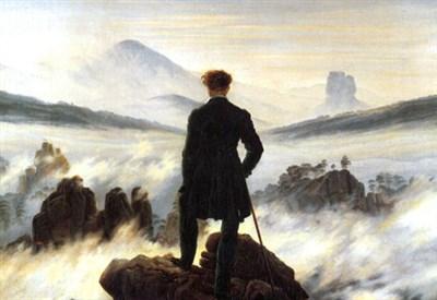 Friedrich, Viandante sul mare di nebbia (1818) (Immagine d'archivio)