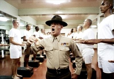 Una scena del film Full metal jacket
