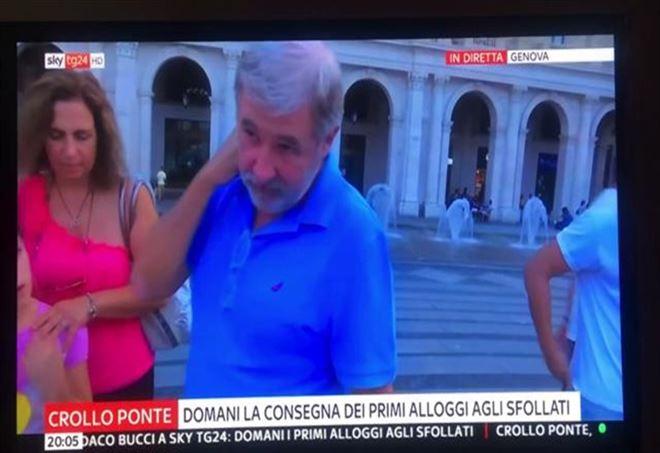 Genova, gaffe della giornalista di Sky