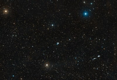 Panoramica della regione attorno alla galassia NGC3783 (credit: ESO/Digitized Sky Survey 2. Acknowledgement: Davide De Martin