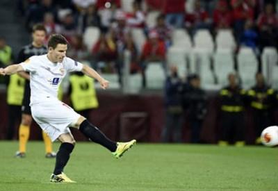 Kevin Gameiro, 28 anni, attaccante francese del Siviglia (INFOPHOTO)