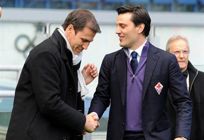 Rudi Garcia e Vincenzo Montella, allenatori di Roma e Fiorentina (Infophoto)